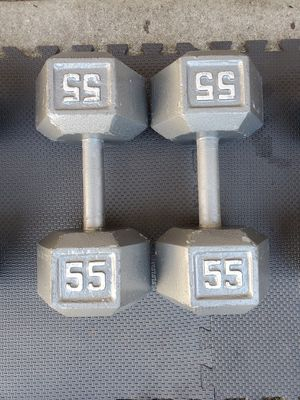 Pair Of 55s Dumbells Free Weights for Sale in Steilacoom, WA