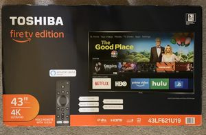 Toshiba 43 inch 4k TV with amazon firetv for Sale in Palo Alto, CA