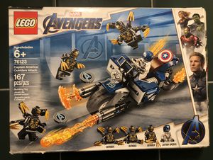 $20 LEGO Marvel Avengers Captain America: Outriders Attack 76123 Building Kit (167 Pieces) for Sale in Las Vegas, NV