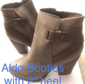 New ALDO Brown Leather Boots • Designer Booties • Size 10 / 11 for Sale in Washington, DC