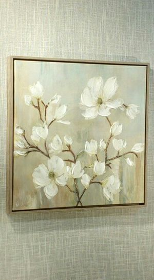 """Canvas Wall Art in Rustic Wood Frame , 17""""x17"""" *PICKUP ONLY* home decor, household, pictures, paintings, shabby chic, farmhouse for Sale in Tempe, AZ"""