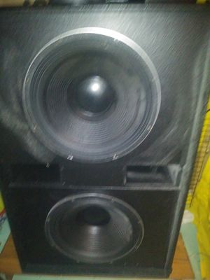 2 low frequency Ev audio 18 sub speakers in pro box for Sale in Joliet, IL
