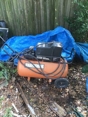 30gal 5.5 hp air compressor for Sale in St. Petersburg, FL