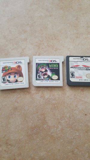 Used 3ds games (Luigi's Mansion Dark Moon, Super Mario 3d land, And Mario kart ds) for Sale in Victorville, CA