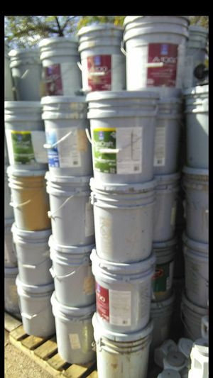 5 gallon buckets of already COLORED / TINTED latex house paint for Sale in Phoenix, AZ