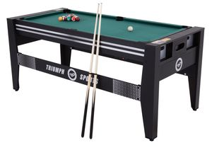 "Triumph 72"" 4 in 1 Multi-Game Swivel Table with Air-Powered Hockey, Table Tennis, Billiards, and Launch Football for Sale in Smyrna, GA"