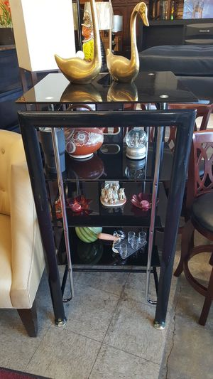 Super Nice Black And Glass Tv Stand Media Stand for Sale in Chicago, IL