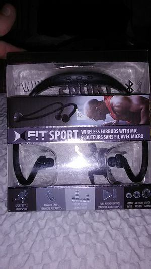 Fit Sport Bluetooth wireless earbuds with mic for Sale in St. Louis, MO