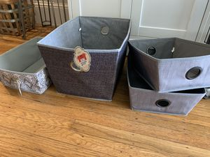 Soft storage containers and hanging shelf for closet for Sale in San Francisco, CA