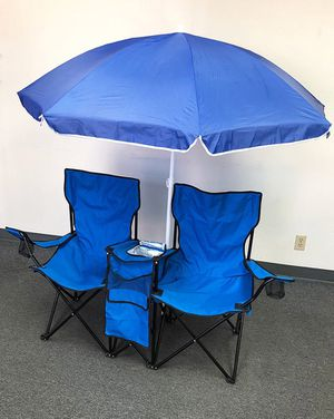 NEW $35 Folding Chair w/ Umbrella for Sale in Downey, CA