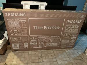 65 Samsung frame qled 4K smart led tv/QN65LS03 for Sale in West Orange, NJ