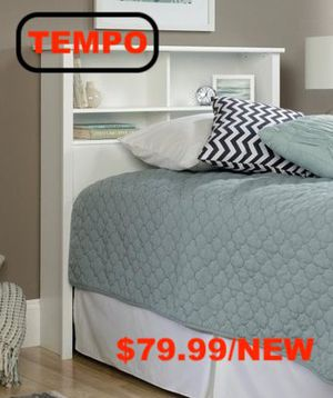 Twin Bookcase Headboard, Soft White for Sale in Santa Fe Springs, CA