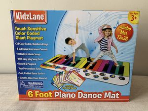 Kidzlane Floor Piano Mat: Jumbo 6 Foot Musical Keyboard Playmat for Toddlers and Kids for Sale in Naperville, IL