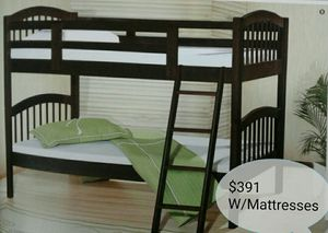 🍁🍂Brand New Twin Bunk Bed W/Mattresses Included🍂🍁 for Sale in Phoenix, AZ