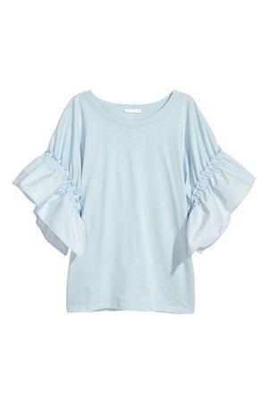 H&M baby blue puff shoulder shirt for Sale in Coolidge, AZ