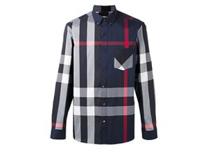 BURBERRY MEN THORNABY NAVY SHIRT S, M, L, XL, 2XL, 3XL for Sale in Raleigh, NC