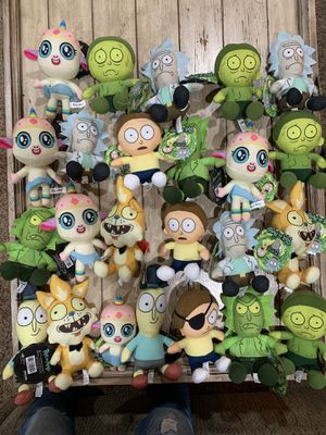 "Rick And Morty Plush characters 6"" NEW. Adult Swim Licensed Stuffed $5 each for Sale in Corona, CA"