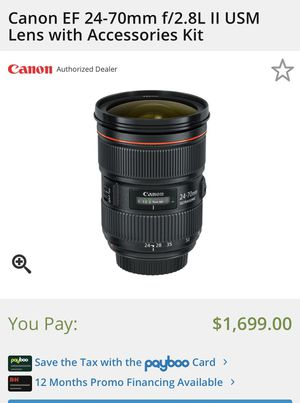 Canon 24-70 Macro Lens f2.8 for Sale in Tempe, AZ