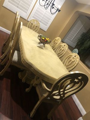 Dining table + China + 8 chairs Like new for Sale in Fontana, CA
