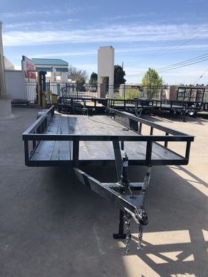 2019 brand new utility trailer 20x76 gvwr 4400 no brake comes with title Finance available for Sale in Odessa, TX