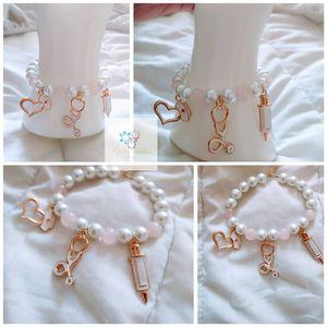 Pearl/Pink Quartz Charm Bracelet for Sale in Tamarac, FL
