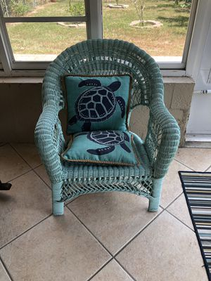 Wicker Chair indoor/outdoor, patio furniture for Sale in NEW PRT RCHY, FL