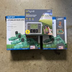 ORBIT HEAVY DUTY SPRINKLER SYSTEM - ELECTRONIC TIMER And VALVES for Sale in Pompano Beach,  FL