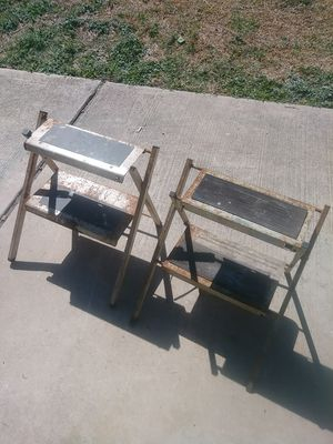 2 vintage folding step ladders $15 each or $20 for both for Sale in San Antonio, TX