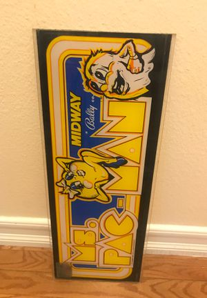 Original Ms PacMan Arcade Game Marquee for Sale in Anaheim, CA