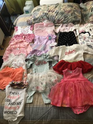 Baby girl clothes some of those never worn for Sale in San Diego, CA