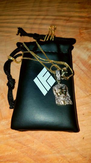 If n co 10k solid gold and fully iced out Jesus piece and also Franco chain is if n co. for Sale in Salinas, CA