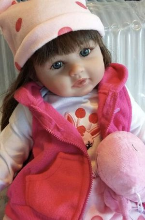 Reborn Baby Doll long Hair for Sale in Spring, TX