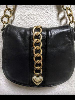 JUICY COUTURE Black Leather Messenger Bag for Sale in Phoenix, AZ