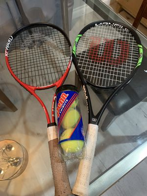2 tennis rackets and set of balls for Sale in Fullerton, CA