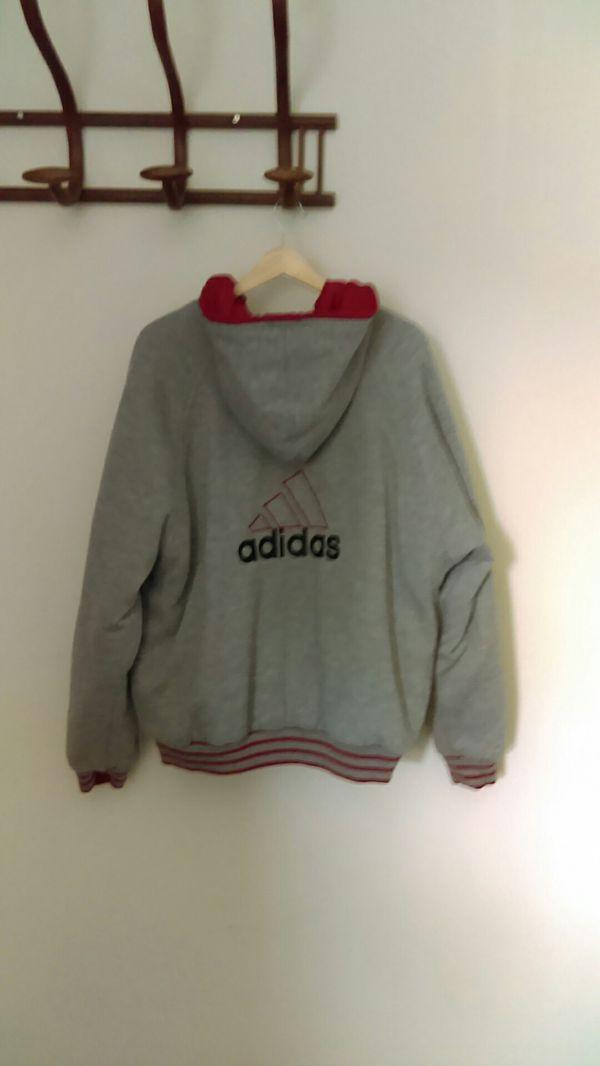 Vintage 1990s ADIDAS reversible jacket hoodie