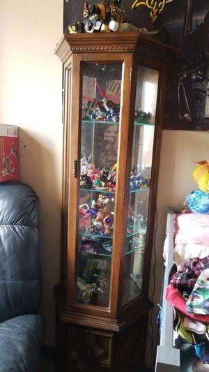 Glass shelf curio cabinet for Sale in Stillwater, MN