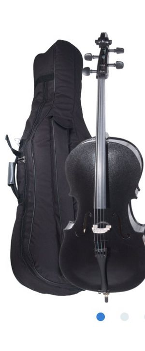 Blk Cello with extra bow and strings and hard case for Sale in Santa Monica, CA