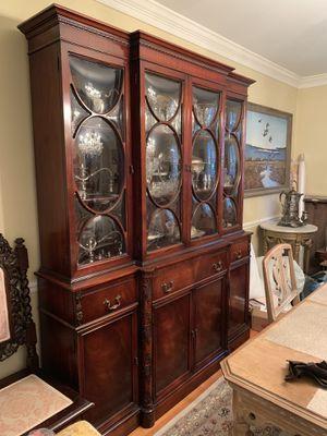 Antique Mahogany China Cabinet for Sale in Richmond, VA