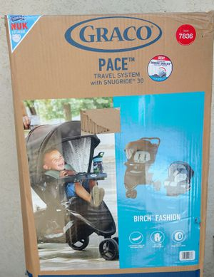 (BRAND NEW) Graco Pace Travel System - Birch for Sale in Kingsburg, CA