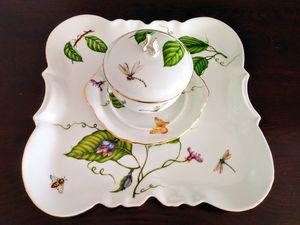 I. GODINGER & CO. Tray, 3 Piece Set Sugar Bowl & Sml Platter/Dish for Sale in Palm Beach Shores, FL
