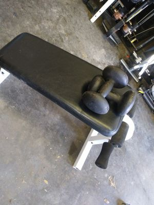 Tuff stuff incline bench W/dumbells for Sale in Tampa, FL