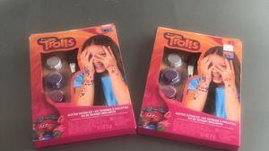 Trolls glitter tattoo kit for Sale in Las Vegas, NV
