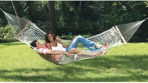 New Hammock Garden furniture patio Plenty of room for two adults; 450-lb. weight capacity UV-resistant Hanging hardware included for Sale in Ventura, CA