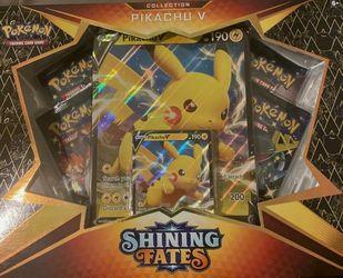 Pokemon Shining Fates Pikachu V Box Collection Box - TCG for Sale in Atlanta,  GA