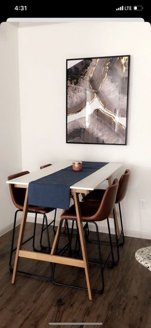 Mid century modern dining and chairs for Sale in Houston, TX