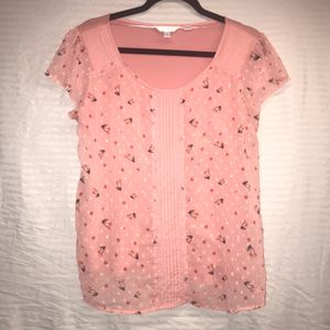 Lauren Conrad brand women's top shirt large cherry for Sale in Nashville, TN