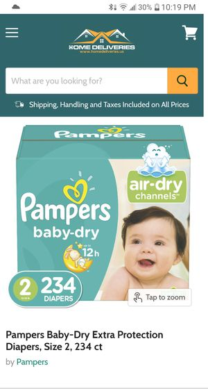 Pampers Baby dry size 2 234 count ( 1 in stock) Section Front Display for Sale in Phoenix, AZ