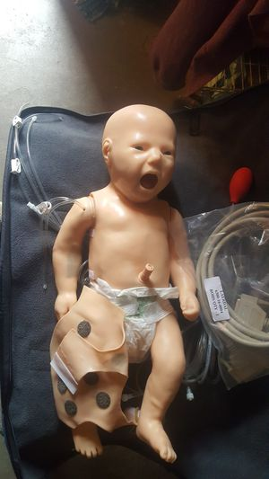 Laerdal simbaby baby simulator with bag and accessories for Sale in Overland Park, KS