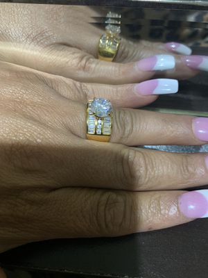 18k gold over sterling silver Engagement Ring zirconia for Sale in Omaha, NE