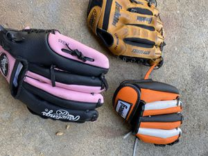 Junior size baseball gloves size 8 1/2 to 9 1/2 for Sale in Artesia, CA